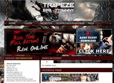 Trapeze Ran Online Ran Online - Private Servers Top 100