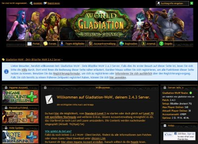 Gladiation WoW - TBC 2 4 3 World of Warcraft - Private