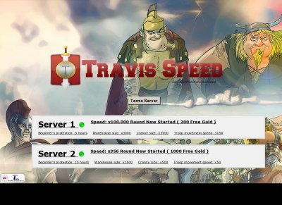 TraviSpeed x100 000 Travian - Private Servers Top 100 Gaming list